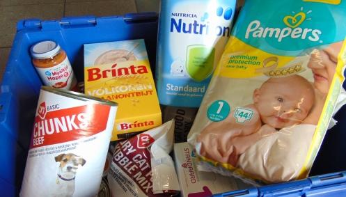 Deze week voedselinzameling bij Albert Heijn Heusdenhout